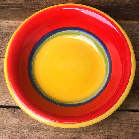 Royal Norfolk Soup Cereal Bowl Mambo Yellow, Green, Blue & Red