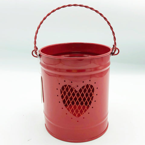 "Red Valentine Heart 5"" H Bucket"