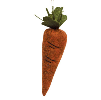 "Rustic Felt Stuffed 5"" Carrot"