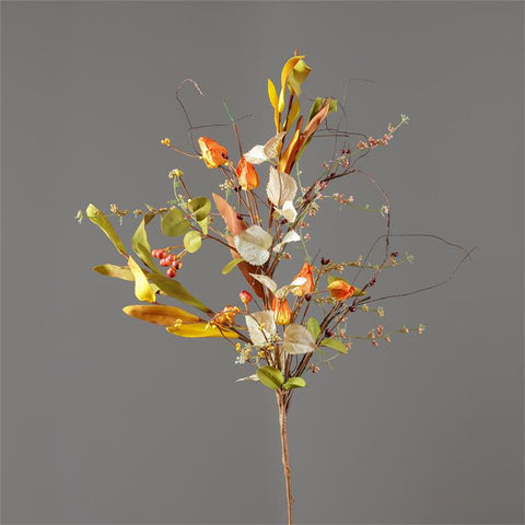 Fall Pods Berries and Foliage Faux Spray