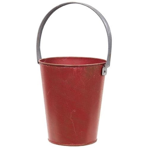 Rustic Red Gathering Bucket
