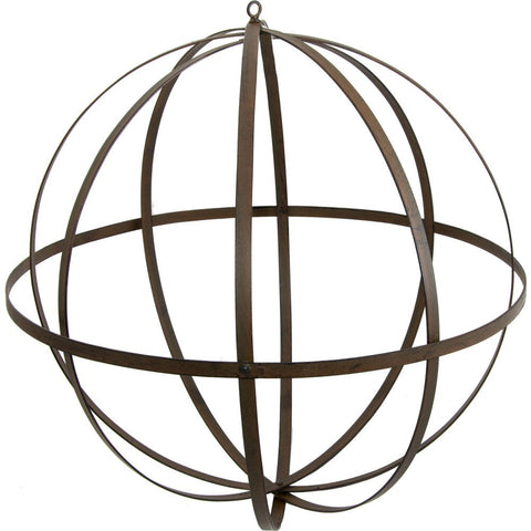 Wrought Iron Ball: Antique Rust Finish 18""