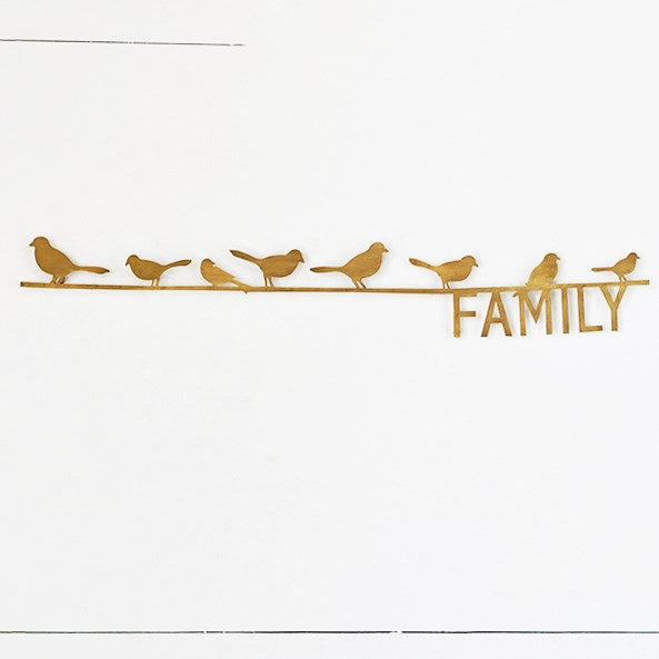 Silhouette Family Birds Tin Sign