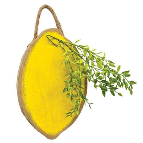 Hanging Distressed Wood Lemon