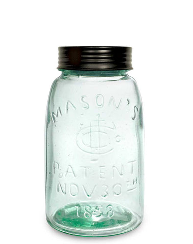 Reproduction Midget Pint Mason Jar with Lid