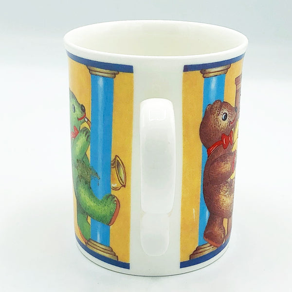 Royal Cuthbertson Drumming Bears Mug Made in England
