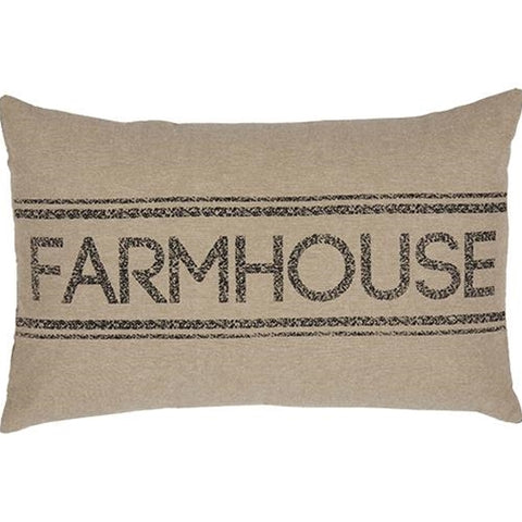 "Sawyer Mill Charcoal Grey Farmhouse Pillow 14"" x 22"""