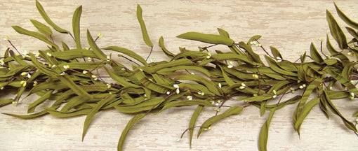 Natural Citron Herb and Berries Garland 4 feet long