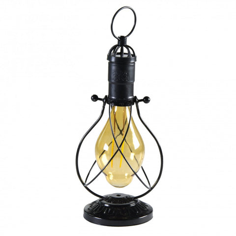Edison LED Solar Lantern with Tapered Bulb