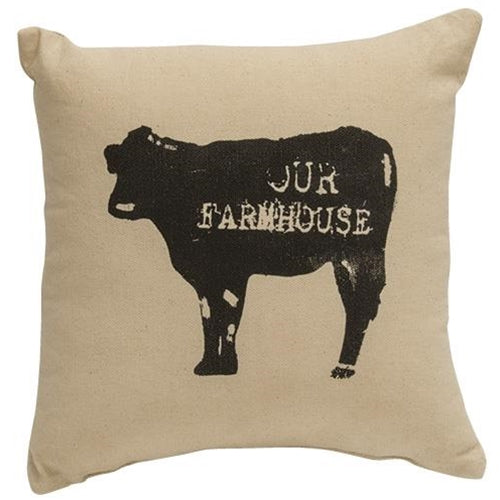 "Our Farmhouse Cow 10"" Pillow"