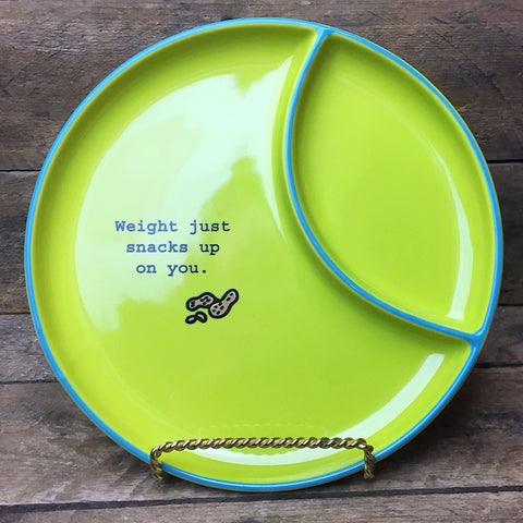Weight Just Snacks Up On You - Snack Plate Time to Celebrate Department 56