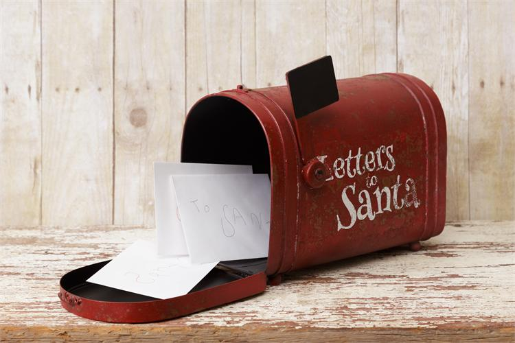 Rustic Red Letters to Santa Mailbox