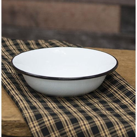 Black Rim Enamelware Soup Bowl