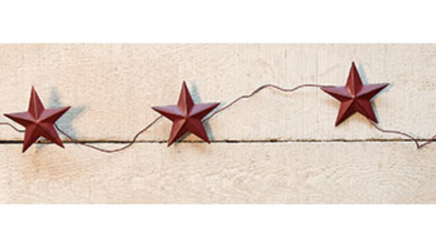"Burgundy Star Garland 60"" long"