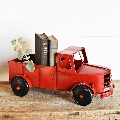 Old Red Truck Planter