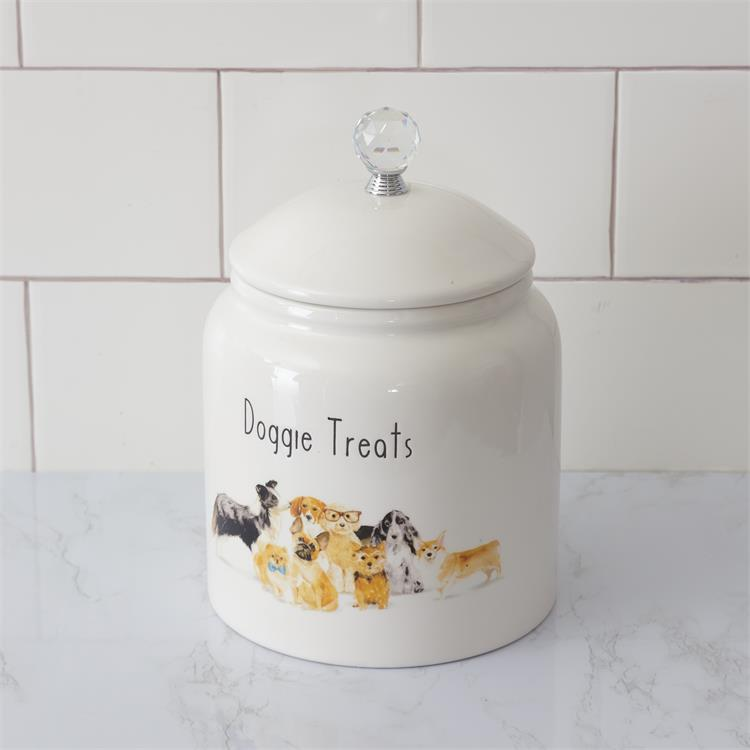 Playful Pups Doggie Treats Canister