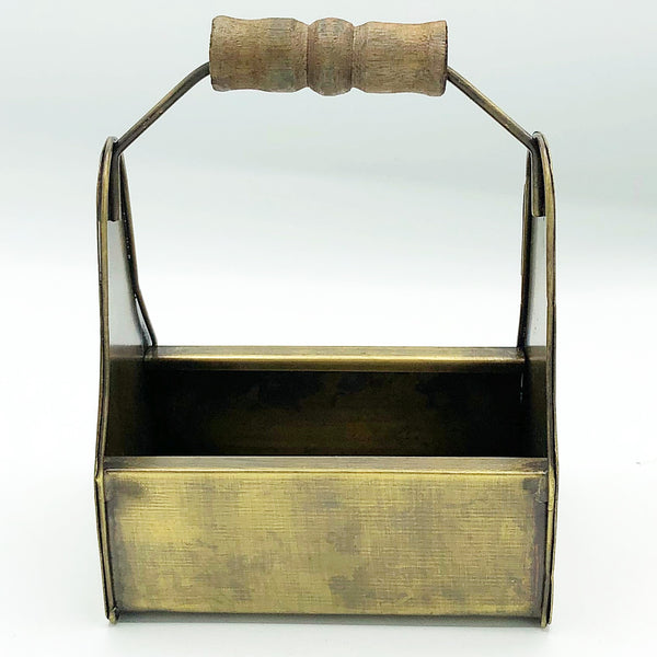 Mini Antique Brass Handled Caddy