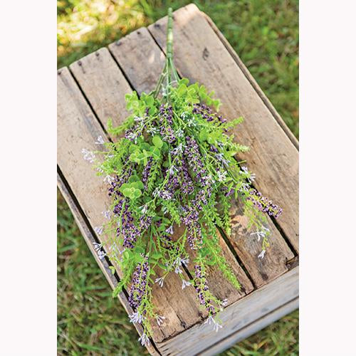 "Eucalyptus Lavender Berry Botanical 20"" L Bush Spray"
