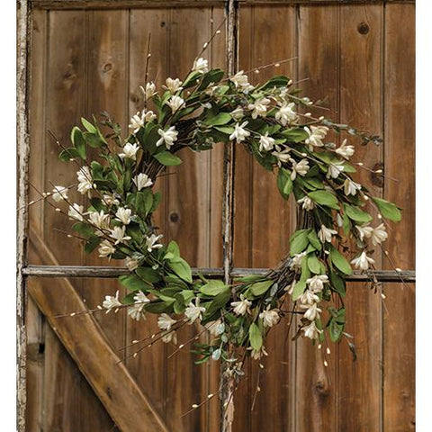 Teastain Gardenia Twig Wreath 20""