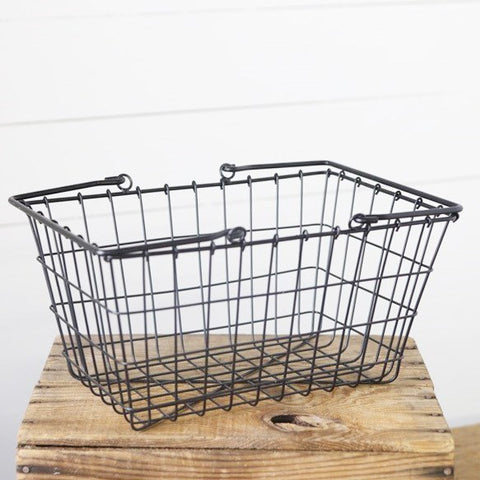 Vintage-style Wire Storage Basket