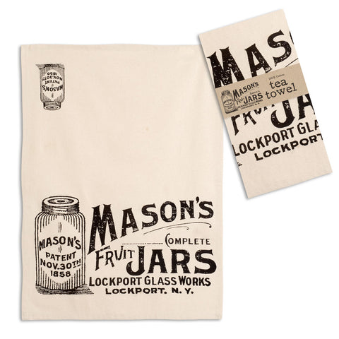 Mason Jars Advertisement Tea Towel