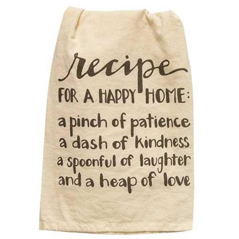 Recipe For a Happy Home Dish Towel