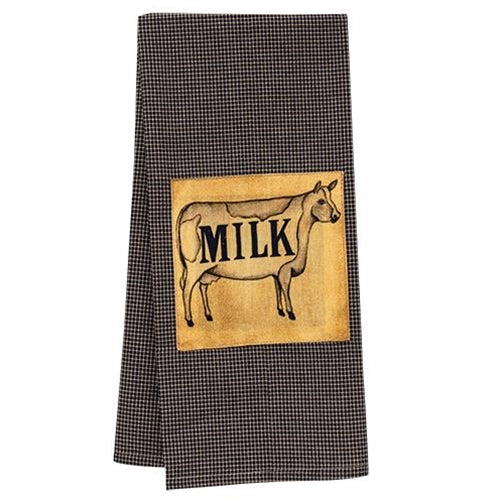 Milk Plaid Check Cow Dish Towel