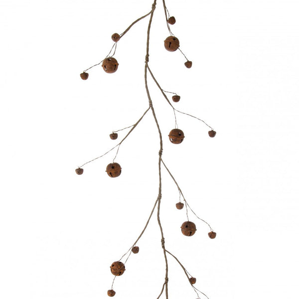 Rusted Jingle Bell Garland - 5 feet