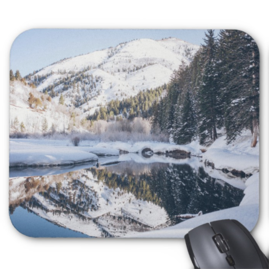 Winter Scene Mousepad - Winter Lake - Mouse Pad