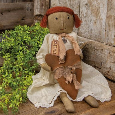 Krysta Heart Doll Primitive Decorative Fabric Cloth