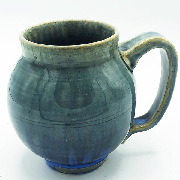 Handcrafted Pottery Mug Blue Dream Crazed Design