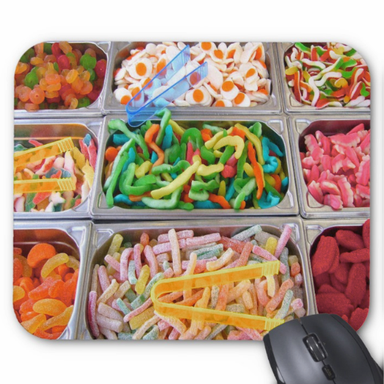 Candy Mousepad - Sweet Treat Buffet - Mouse Pad