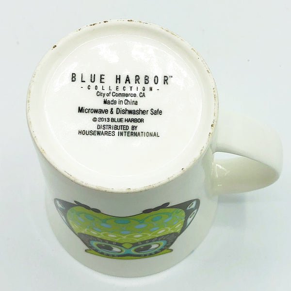 Blue Harbor Green and Brown Owl Mug