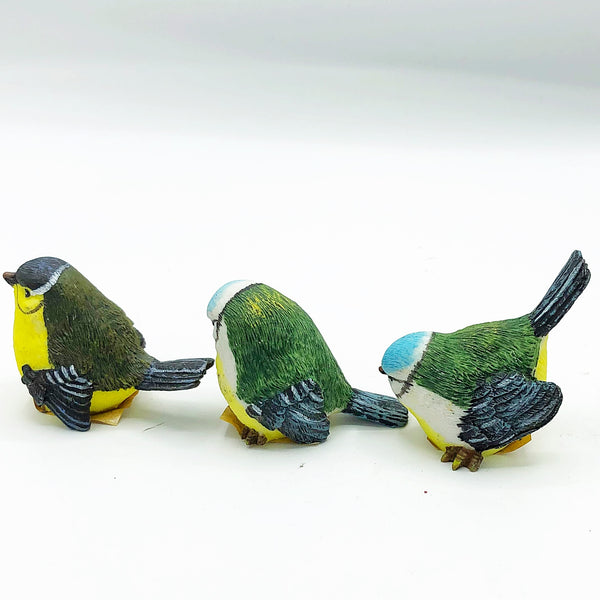 Set of 3 Natural Spring Bird Figures