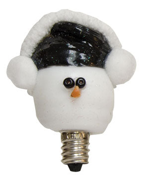 Earmuff Snowman Decorative 3 Watt Bulb