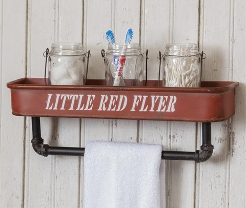 Little Red Flyer Wall Shelf and Hanger