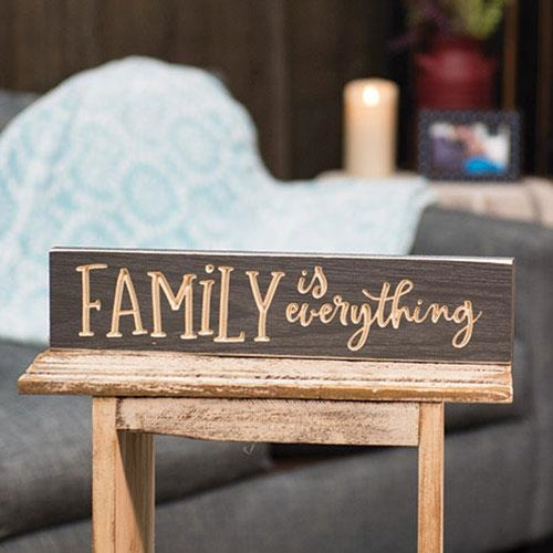 Family Is Everything Engraved Sign