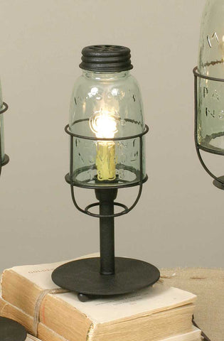 "Mason Jar Desk Lamp 10.5"" tall"