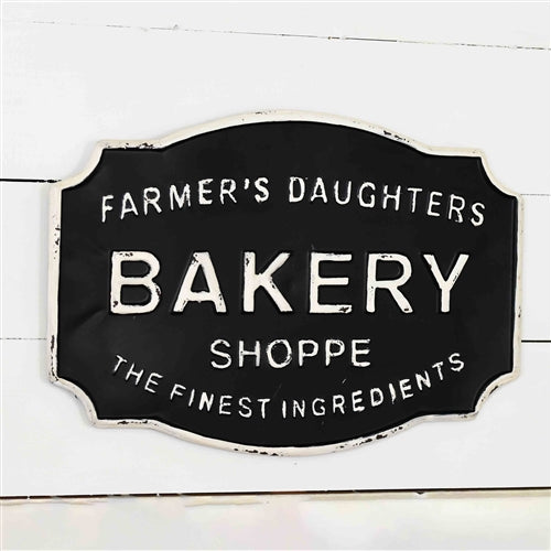 Farmer's Daughter Bakery Shoppe Tin Sign