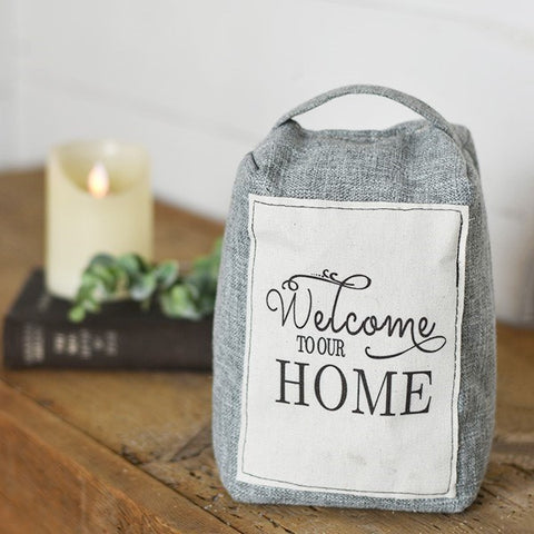 Welcome to our Home Fabric Door Stop