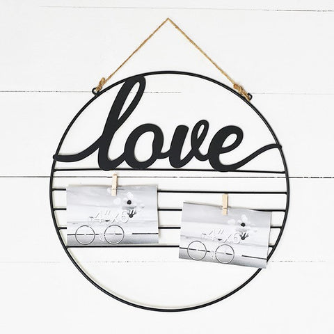 Love Hanging Circular Photo and Notes Holder