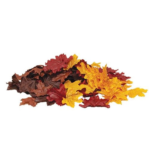 Shades of Autumn Artificial Leaves - 100 pcs
