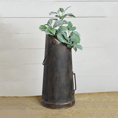 "Rustic Tall Black Hanging 17"" Can"