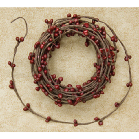 Burgundy Pip Berry String Garland 18 feet