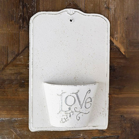 Chippy White Love Wall Planter