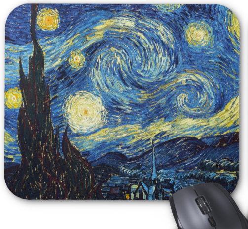 Van Gogh Mousepad - Starry Night - Mouse Pad