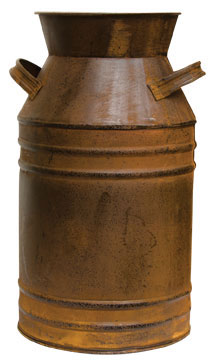 "Rustic Decorative Milk Can 13"" H"