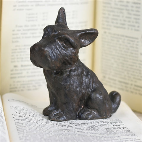 Sweet Little Cast Iron Terrier Dog