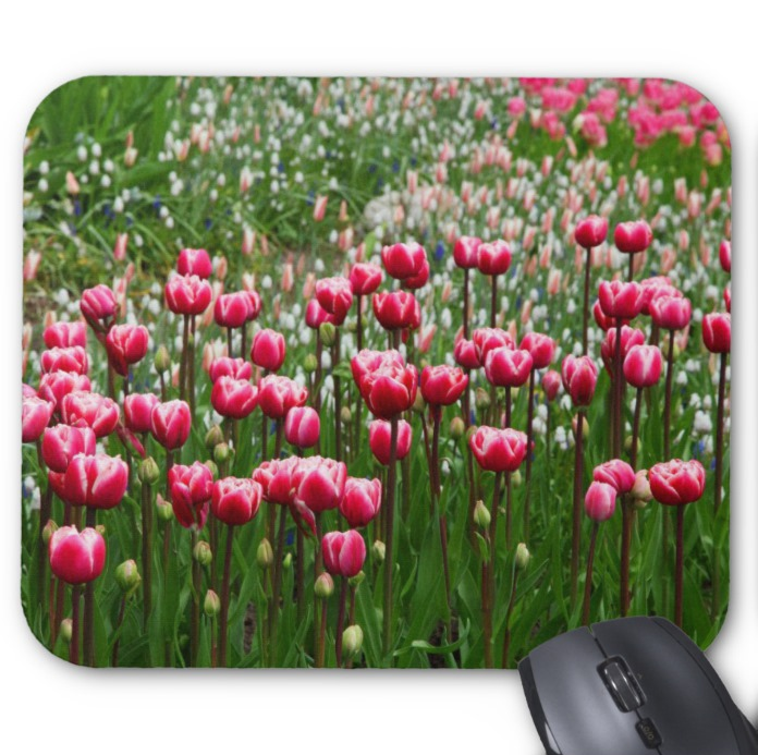 Floral Photo Mousepad - Tulip Field - Mouse Pad