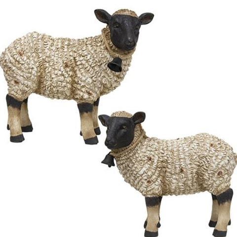 Set of 2 Sheep Textured Figures